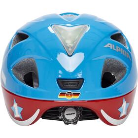 Alpina Ximo Flash Helm Kinder red car